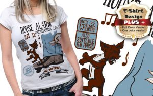T-shirt design plus 64 T-shirt designs and templates [tag]