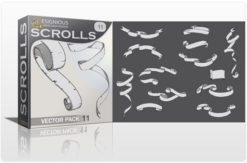 Scrolls vector pack 11 Scrolls scroll