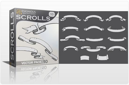 Scrolls vector pack 10 Scrolls scroll