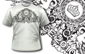 T-shirt design 264 T-shirt Designs and Templates vector