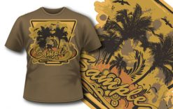 T-shirt design 265 T-shirt designs and templates palm