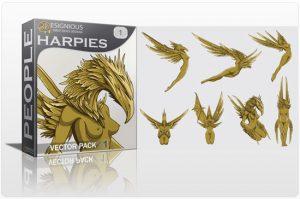 Harpies Vector Pack People [tag]