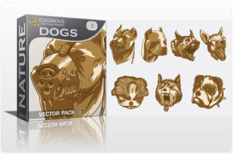 Dogs Vector Pack Nature [tag]