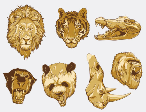Wild Animals Vector Pack Nature [tag]