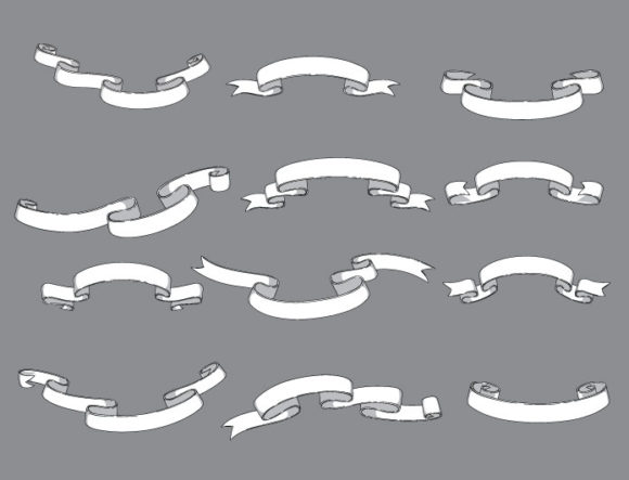 Scrolls Vector Pack 12 products vector ribbons 12