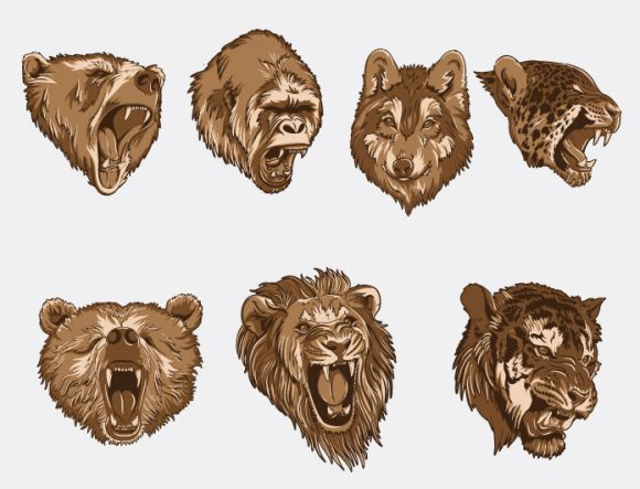 Wild animals vector pack 2 Nature [tag]