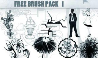Free ps brush pack 1 Freebies vector