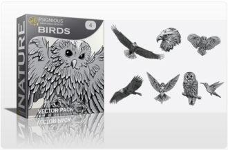 Birds Vector Pack 4 Nature birds