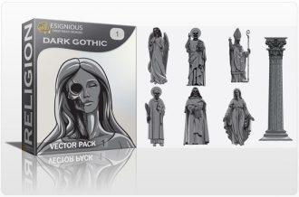 Dark gothic vector pack Religion [tag]