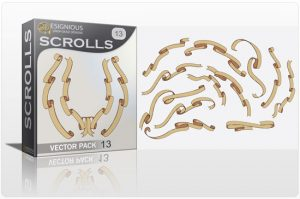 Scrolls vector pack 13 Scrolls [tag]