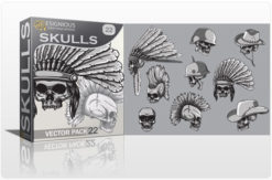 Skulls Vector Pack 22 Skulls indian