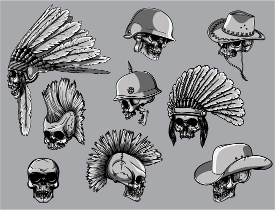 Skulls Vector Pack 22 products skulls 22 prev