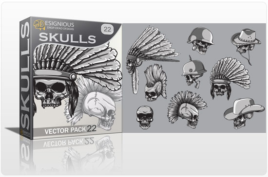 Skulls Vector Pack 22 products skulls 22
