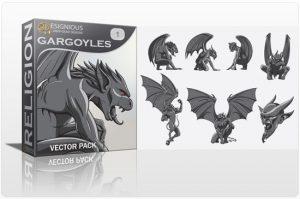 Gargoyles Vector Pack Religion [tag]