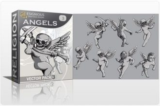 Angels Vector Pack 3 Religion [tag]