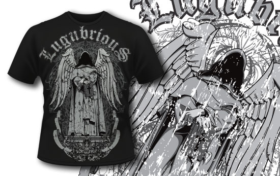 T-shirt design 283 – Dark Angel T-shirt Designs and Templates vector