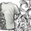T-shirt design 292 - Detailed Flowers Ribbon products designious t shirt 293 baroque flowers