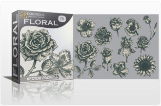 Floral Vector Pack 75 Floral [tag]