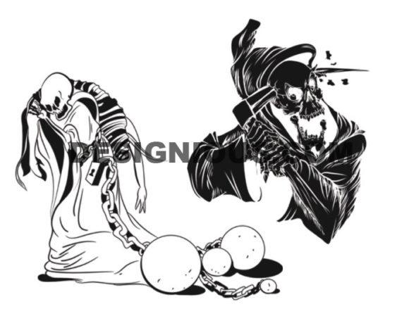Skulls brushes pack 8 Skulls brushes [tag]