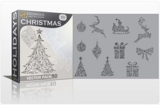 Christmas Vector Pack 10 Holidays christmas