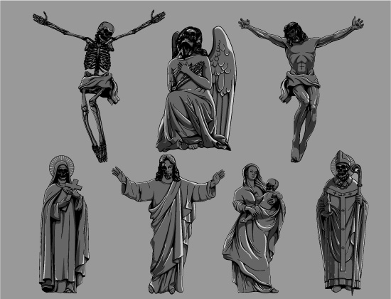 Gothic Vector Pack 3 – Dark Religion Religion [tag]