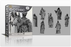 Gothic Vector Pack 4 – Dark Religion Silhouettes Religion [tag]