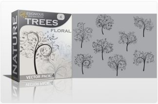 Trees Vector Pack 4 Nature floral