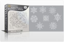 Christmas Vector Pack 11 – Abstract Snowflakes Holidays [tag]
