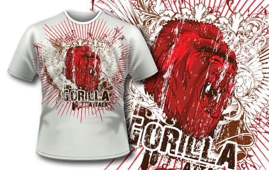 T-shirt design 297 - Gorilla 5
