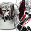 T-shirt design 298  - Grungy text and wings 1