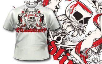 T-shirt design 307 – Bloody Chalice T-shirt Designs and Templates vector