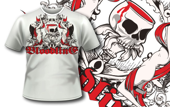 T-shirt design 307 - Bloody Chalice products designious t shirt design 307