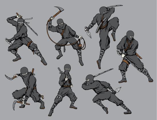 Ninja Vector Pack 1 Japanese Art [tag]