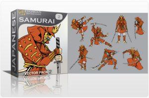Samurai Vector Pack 2 Japanese Art [tag]