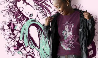 Free T-shirt Design – Geisha Freebies vector