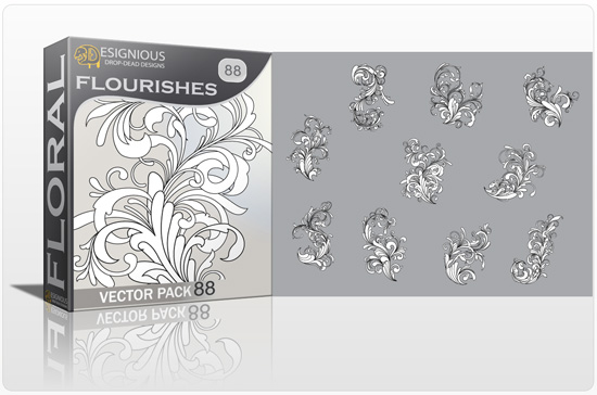 Floral vector pack 88 - Flourishes 1