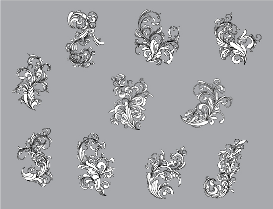 Floral vector pack 88 - Flourishes 2