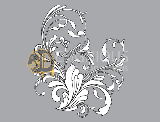 Floral vector pack 88 - Flourishes 3