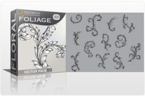 Floral Vector Pack 89 – Foliages Floral floral