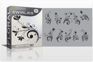 Floral Vector Pack 90 – Swirls Floral floral