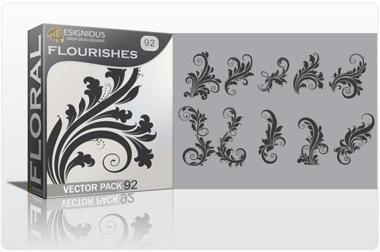 Floral Vector Pack 92 –  Flourishes Floral floral