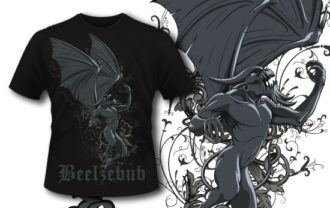 T-shirt design 324 – Rising Gargoyle T-shirt Designs and Templates vector