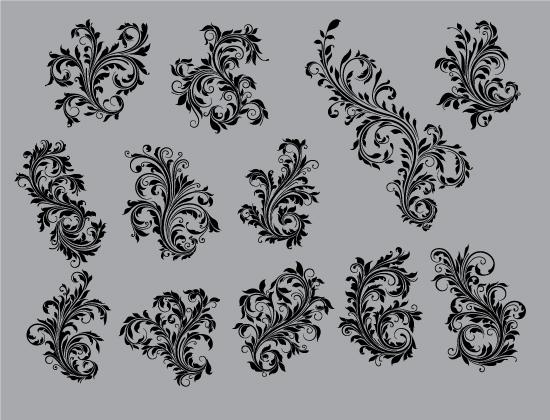 Floral Vector Pack 85 – Flourishes Floral floral