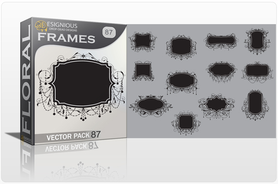 Floral Vector Pack 87 – Ornate Sign Posts Floral vector cutter plotter ready