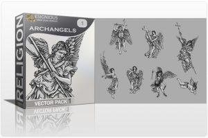 Archangels Vector Pack 1 Religion archangel