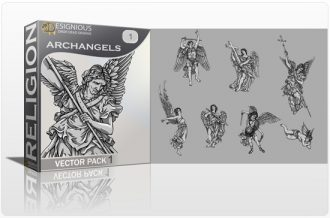 Archangels Vector Pack 1 Religion archangel