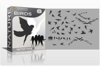 Birds Vector Pack 6 Nature birds