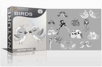 Birds Vector Pack 9 Nature bird