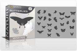 Butterflies Vector Pack 3 Nature butterflies