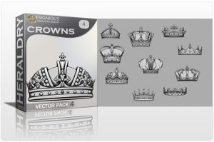 Crowns Vector Pack 4 Heraldry crown